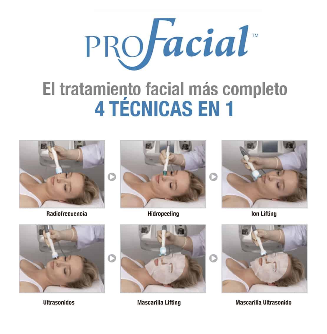 profacial 4x1 Aqua Peeling, Ion Lifting, radiofrecuencia y Ultrasonidos. belium medical distribuidor españa. Limpieza facial profunda, rejuvenecimiento, antiarrugas, producción de colágeno