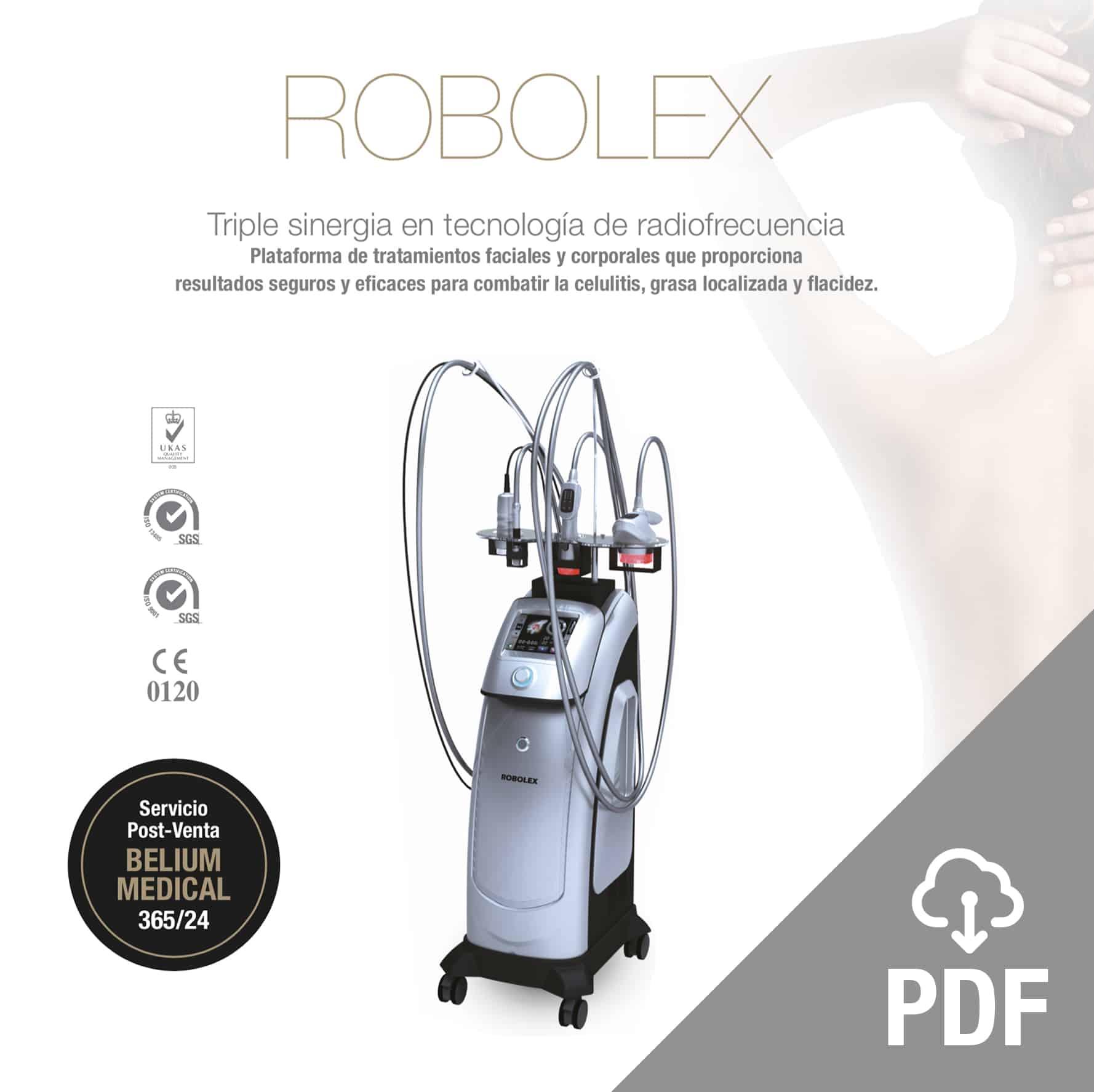 robolex trynea pdf: radiofrecuencia, cavitación, vacum, laser para eliminacion celulitis, grasa, flacidez. Tratamiento facial rejuvenecimiento y corporal. Belium Medical distribuidor españa