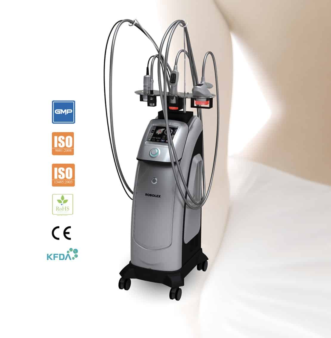robolex trynea FDA: radiofrecuencia, cavitación, vacum, laser para eliminacion celulitis, grasa, flacidez. Tratamiento facial rejuvenecimiento y corporal. Belium Medical distribuidor españa