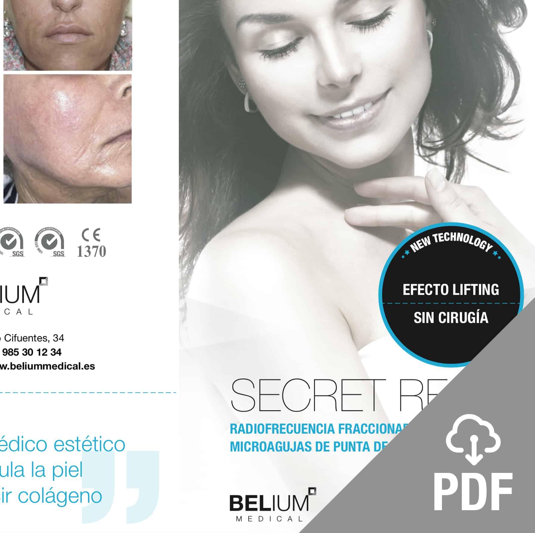 secret PDF radiofrecuencia fraccionada microagujas punta de oro de belium medical FDA para acne, cicatrices, rejuvenecimiento, colágeno