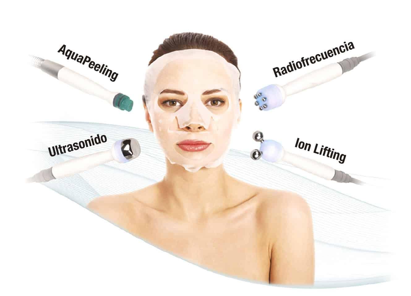 profacial tecnologias Aqua Peeling, Ion Lifting, radiofrecuencia y Ultrasonidos. belium medical distribuidor españa. Limpieza facial profunda, rejuvenecimiento, antiarrugas, producción de colágeno