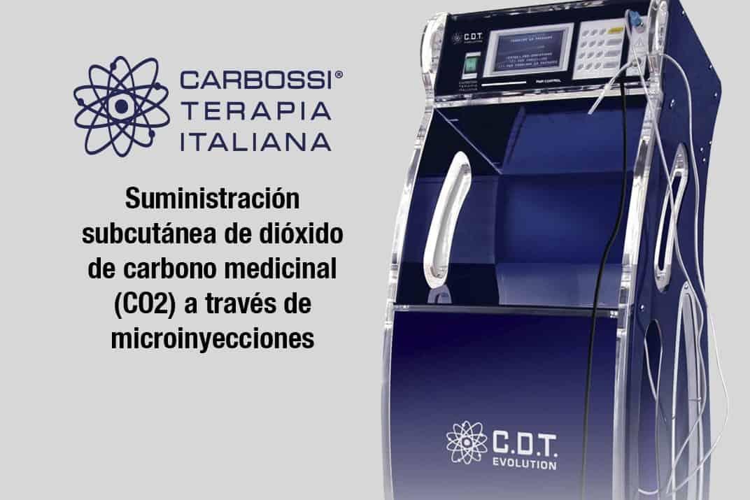 carboxiterapia carbomed dióxido de carbono medicinal (CO2) microinyecciones ojeras, cicatrices, celulitis, flacidez. Belium Medical distribuidor oficial españa