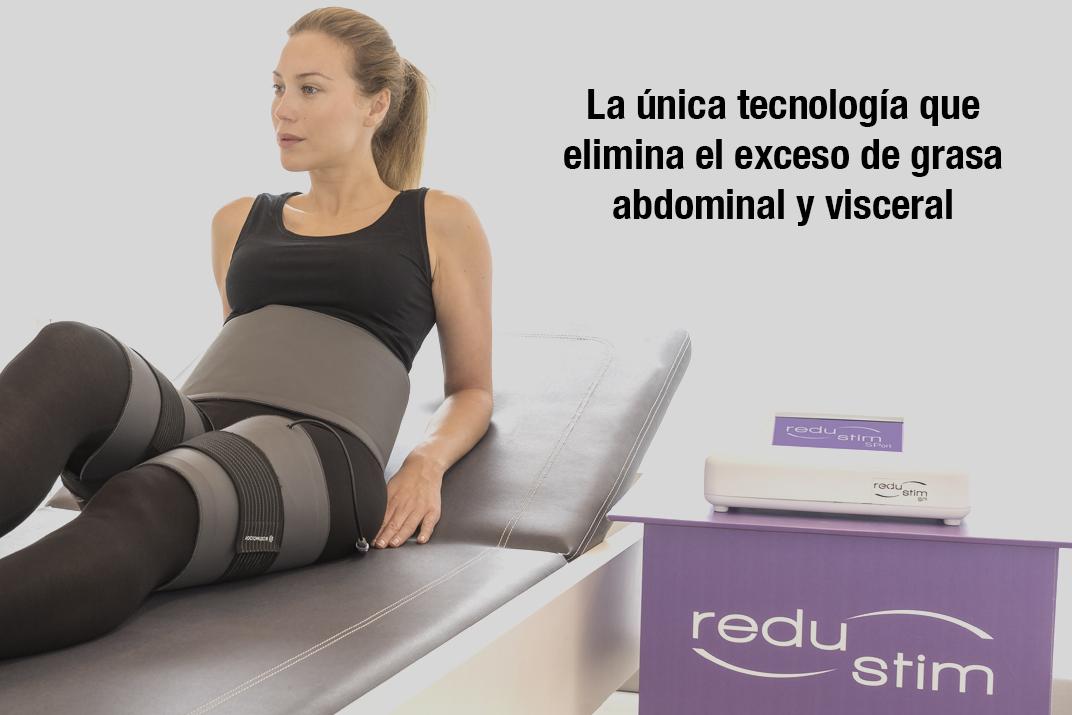 redustim biostimology reduccion grasa abdominal y visceral 100% manos libres, indoloro