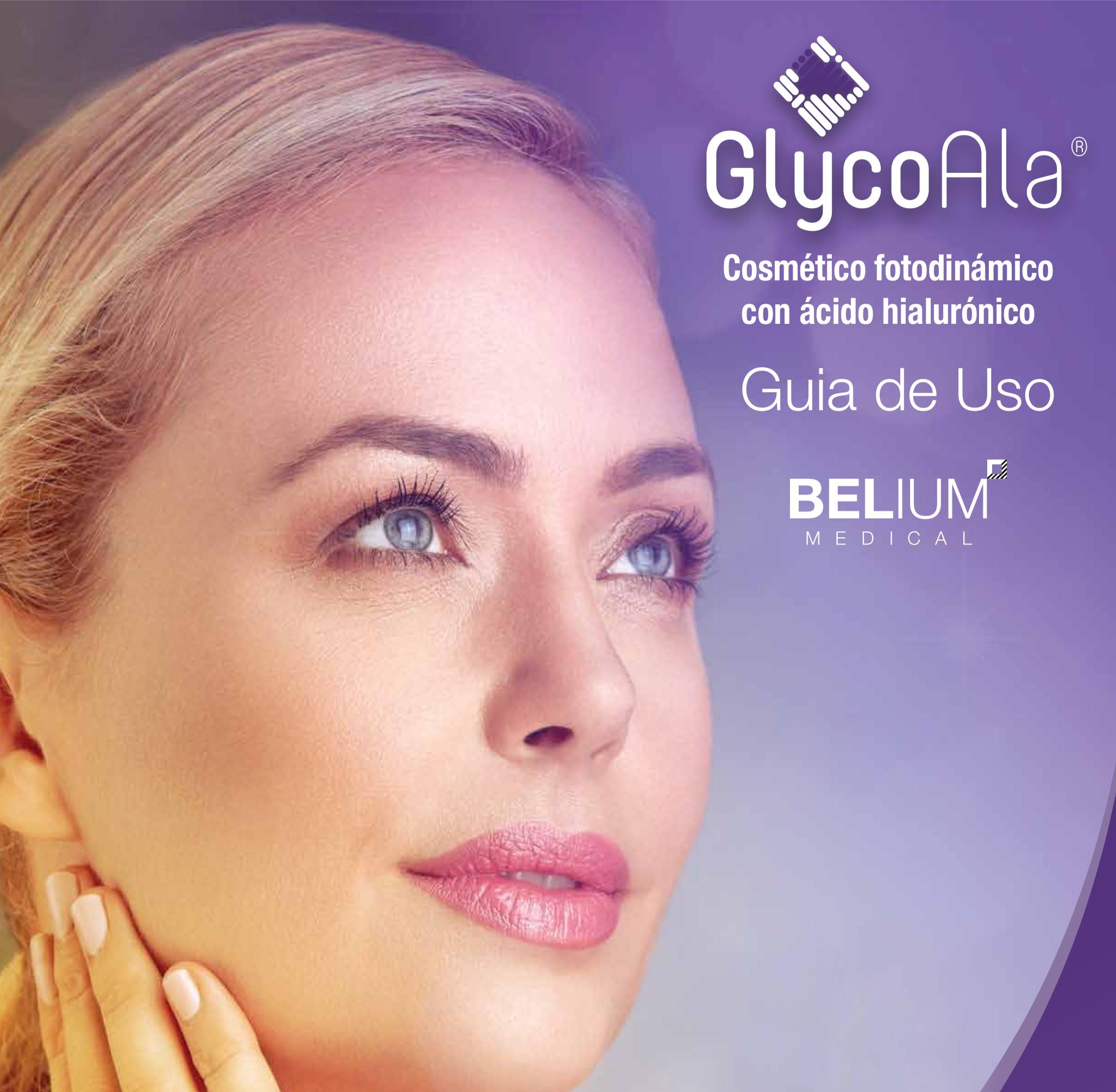 glycoala cosmetico fotodinamico, belium, medical, cosmético, fotodinámico, rejuvenecimiento, piel, belleza, arrugas, hidratación