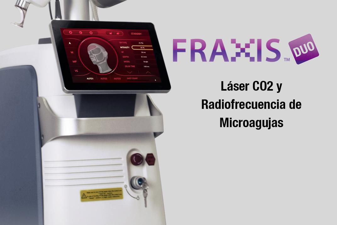 fraxis duo belium medical radiofrecuencia laser co2 microagujas cicatrices, acne, rejuvenecimiento, FDA médico
