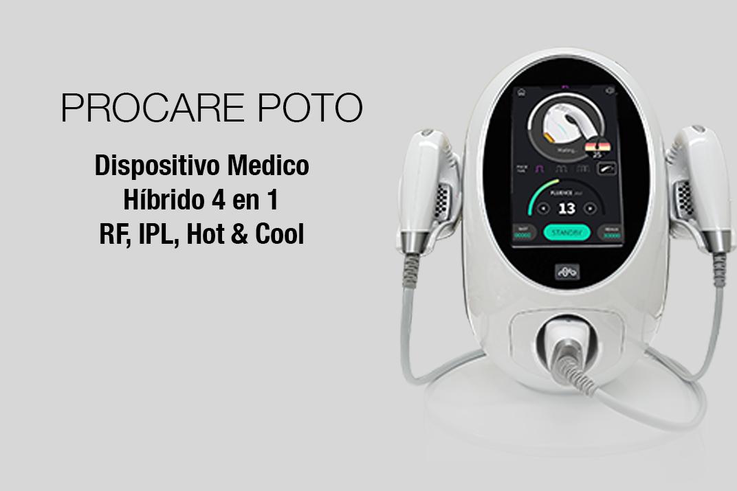 Procare Poto combina tecnologías RF, IPL, Hot & Cool.